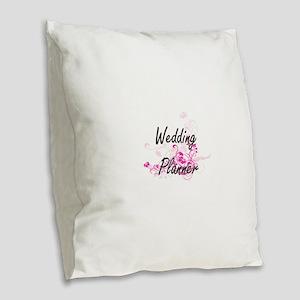 Wedding Planner Artistic Job D Burlap Throw Pillow