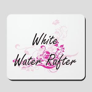 White Water Rafter Artistic Job Design w Mousepad