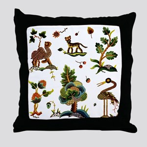 Castlemaine Jacobean Embroidery Throw Pillow