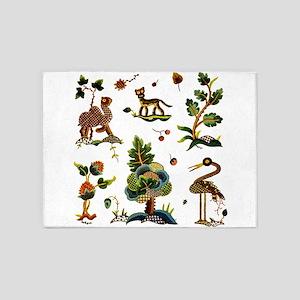 Castlemaine Jacobean Embroidery 5'x7'Area Rug