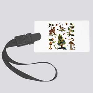 Castlemaine Jacobean Embroidery Large Luggage Tag