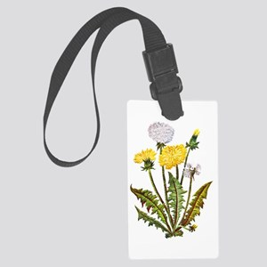 Embroidered Dandelions Large Luggage Tag
