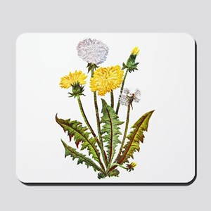 Embroidered Dandelions Mousepad