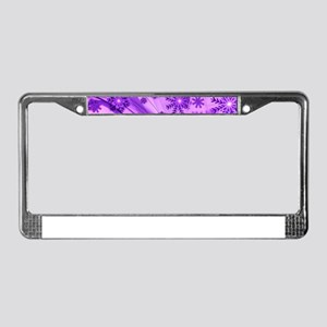 Purple Christmas License Plate Frame