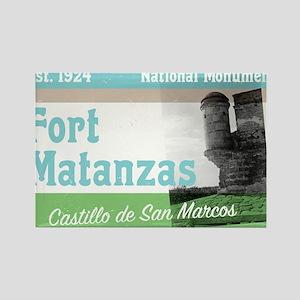 Fort Matanzas Florida Rectangle Magnet