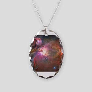 Orion Nebula (M42 / NGC 1976) Necklace Oval Charm
