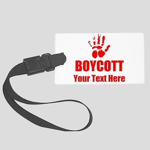 Boycott Luggage Tag