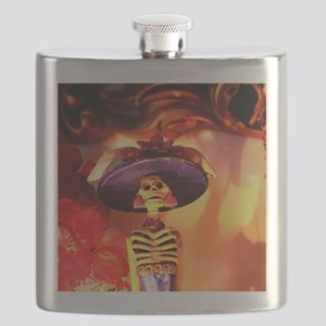 Mexican Catrina Flask