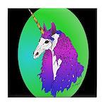 Unicorn Portrait Tile Coaster