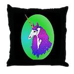 Unicorn Portrait Throw Pillow