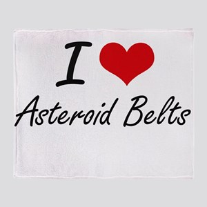 I love Asteroid Belts Throw Blanket