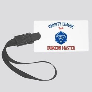 Varsity League - Dungeon Master Large Luggage Tag