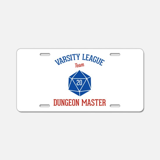 Varsity League - Dungeon Ma Aluminum License Plate