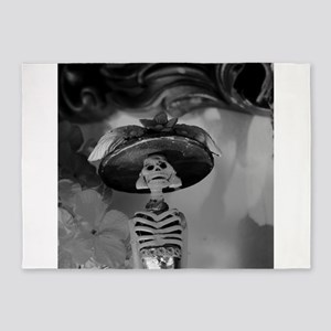 Mexican Catrina 5'x7'Area Rug