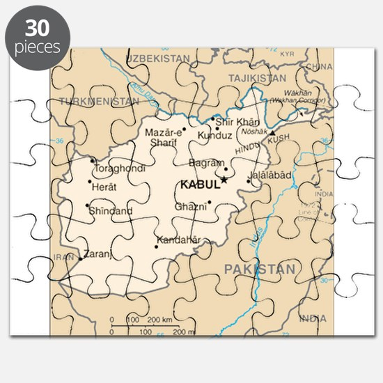 Afghanistan Map Puzzle