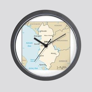 Albanian Map Wall Clock