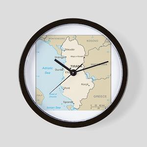 Albanian Map Wall Clock