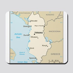 Albanian Map Mousepad