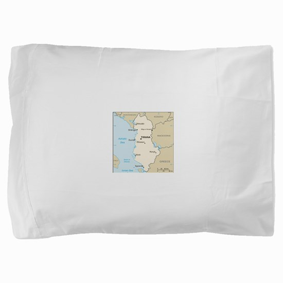 Albanian Map Pillow Sham