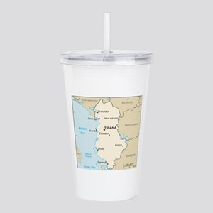 Albanian Map Acrylic Double-wall Tumbler