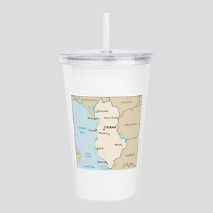 Albanian Map Acrylic Double-wall Tumbler