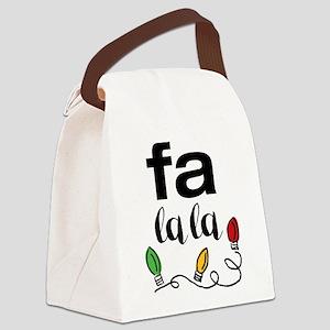 Fa La La Canvas Lunch Bag