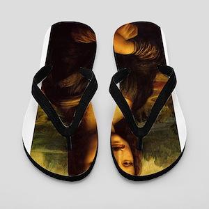 mona lisa movember Flip Flops
