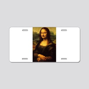 mona lisa movember Aluminum License Plate