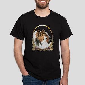Shetland Sheepdog Sheltie Holiday Dark T-Shirt