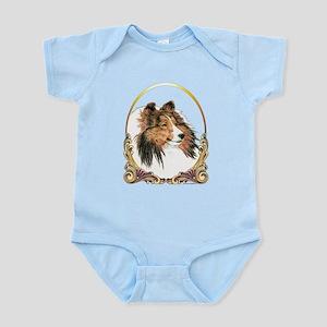 Shetland Sheepdog Sheltie Holiday Infant Bodysuit