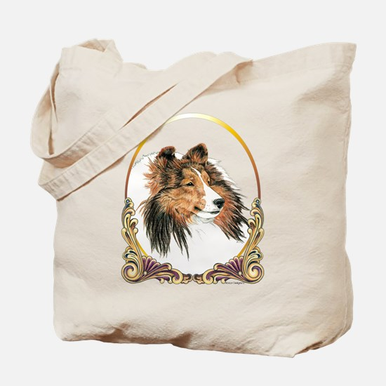 Shetland Sheepdog Sheltie Holiday Tote Bag