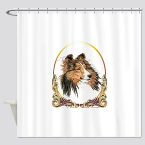 Shetland Sheepdog Sheltie Holiday Shower Curtain