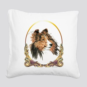 Shetland Sheepdog Sheltie Hol Square Canvas Pillow