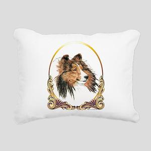 Shetland Sheepdog Shelti Rectangular Canvas Pillow