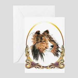 Shetland Sheepdog Sheltie Holiday Greeting Card