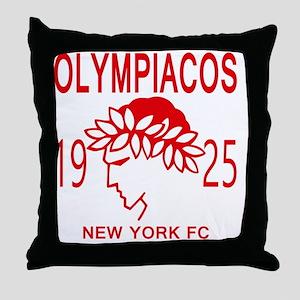 Olympiacos NY FC Throw Pillow