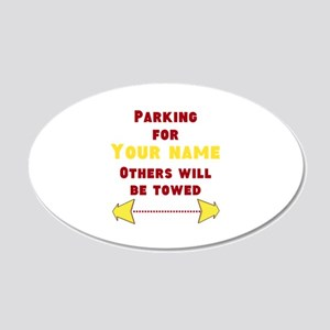 Personalize Parking Wall Decal