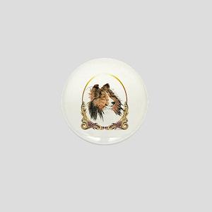 Shetland Sheepdog Sheltie Holiday Mini Button