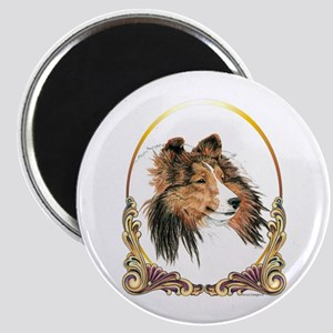 Shetland Sheepdog Sheltie Holiday Magnet Magnets