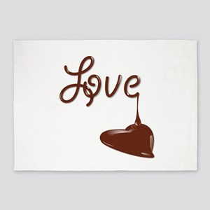 Love chocolate 5'x7'Area Rug