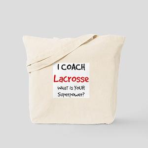 coach lacrosse Tote Bag