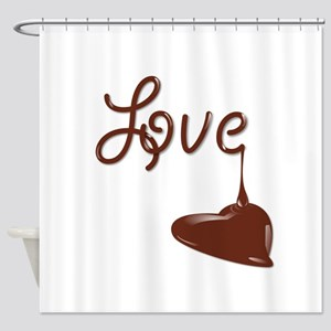 Love chocolate Shower Curtain