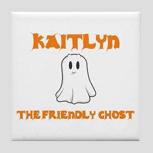 Kaitlyn the Friendly Ghost Tile Coaster