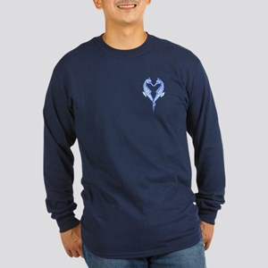 Seahorses Together Blue Long Sleeve T-Shirt