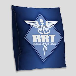 Rrt (diamond) Burlap Throw Pillow