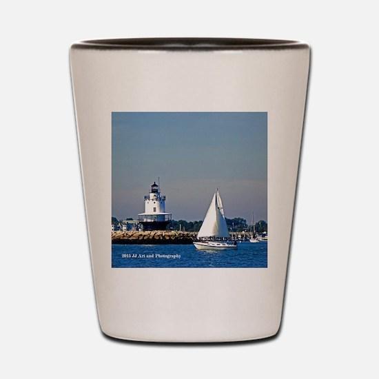 Portland Sailboat And Lighthouse Shot Glass