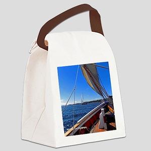 Camden Sailboats Canvas Lunch Bag