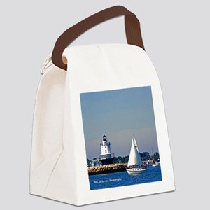 Portland Sailboat & Lighthouse Canvas Lunch Ba