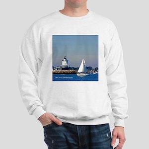Portland Sailboat And Lighthouse Sweatshirt
