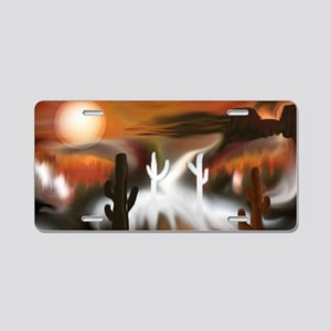 Southwest Fire and Ice Aluminum License Plate